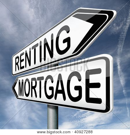 mortgage or renting buy or rent house