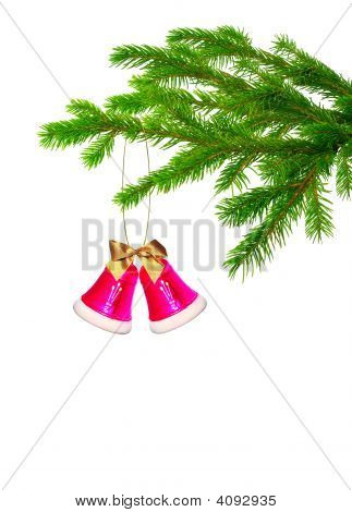 Christmas Handbell On Tree