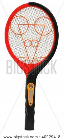 Mosquito killing racket over white background