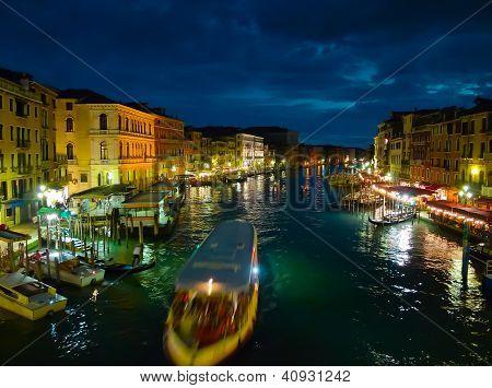 Canal Grande At Night