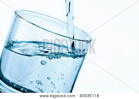 Glass With Pouring Water