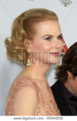 LOS ANGELES - JAN 12:  Nicole Kidman arrives at the 2013 G'Day USA Los Angeles Black Tie Gala at JW Marriott on January 12, 2013 in Los Angeles, CA..