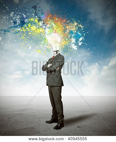 Businessman And Creative Idea
