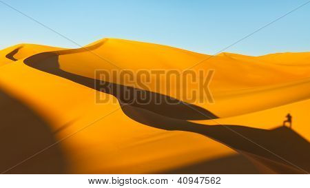 Shadows At Sunset On The Sand Dunes