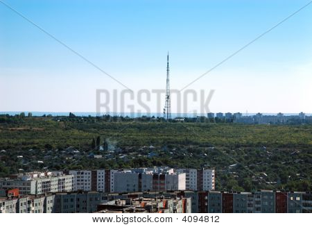 Russia Kind On The City Of Volgograd From Height