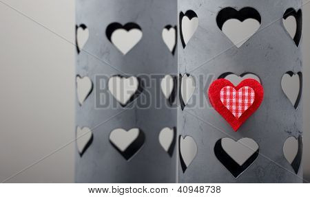 Red Heart On A Tin Box