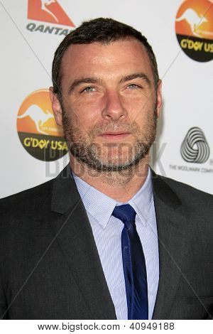 LOS ANGELES - JAN 12:  Liev Schreiber arrives at the 2013 G'Day USA Los Angeles Black Tie Gala at JW Marriott on January 12, 2013 in Los Angeles, CA..