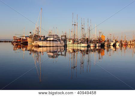 Marina Reflection, Steveston Morning