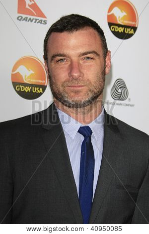 LOS ANGELES - JAN 12: Liev Schreiber at the 2013 G'Day USA Los Angeles Black Tie Gala at JW Marriott on January 12, 2013 in Los Angeles, California
