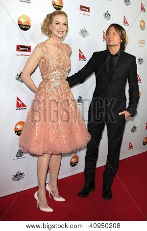 LOS ANGELES - JAN 12: Nicole Kidman, Keith Urban at the 2013 G'Day USA Los Angeles Black Tie Gala at JW Marriott on January 12, 2013 in Los Angeles, California
