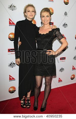 LOS ANGELES - JAN 12: Radha Mitchell, Penelope Mitchell at the 2013 G'Day USA Los Angeles Black Tie Gala at JW Marriott on January 12, 2013 in Los Angeles, California