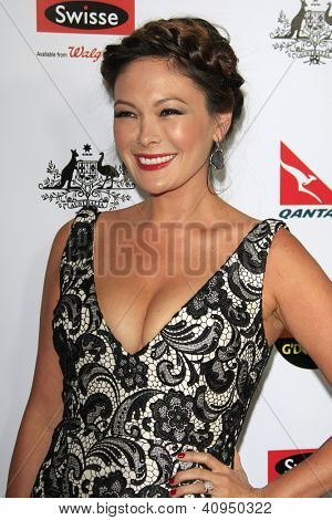LOS ANGELES - JAN 12: Lindsay Price at the 2013 G'Day USA Los Angeles Black Tie Gala at JW Marriott on January 12, 2013 in Los Angeles, California