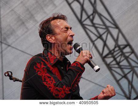 Austrian Musician Hubert Von Goisern Performs On Stage