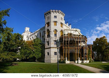 Hluboka Castle In Czech Republic
