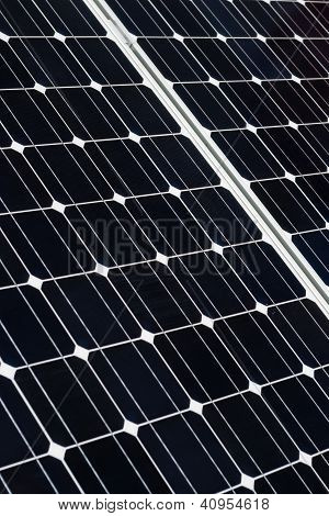 Close Up Of Solar Cell Battery