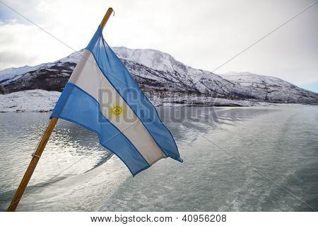 Argentinean Flag In Patagonia
