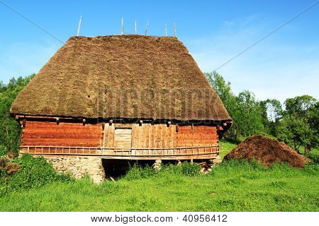 Traditional wooden house in the Occidental Carpathians, Romania