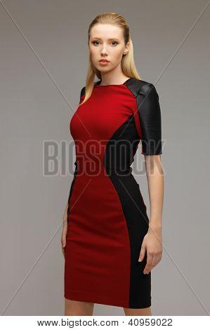 bright picture of beautiful futuristic woman