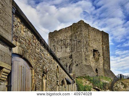 View of Clitheroe Castle, Lancashire.