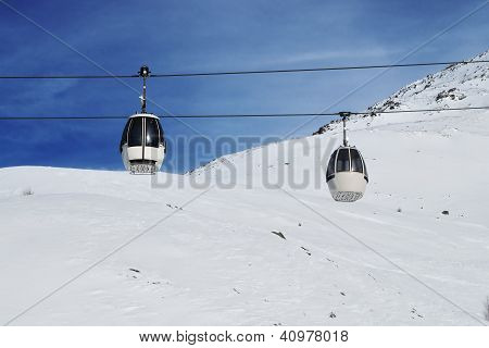 italian Mountain ski resort in winter