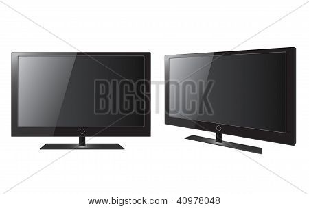Blank Realistic Vector Lcd/led/plasma Tv Set