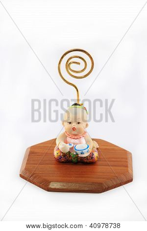 Bussiness card holder Thai Little girl sculpture