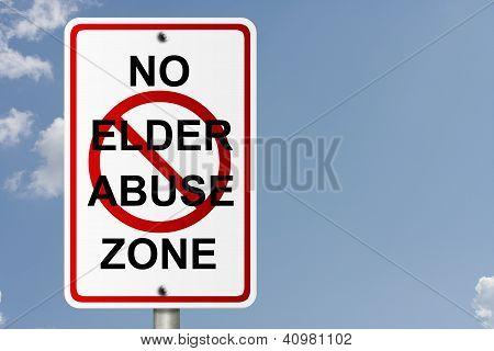 No Elder Abuse Zone