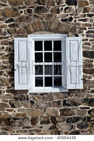 Window in Fieldstone Wall