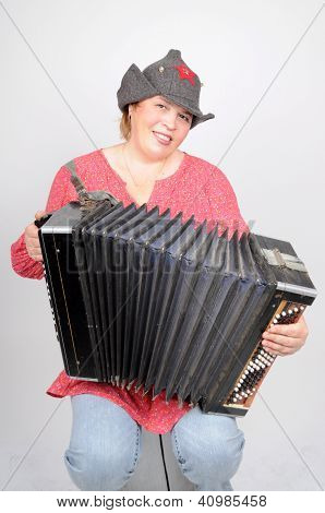 Woman With Accordion