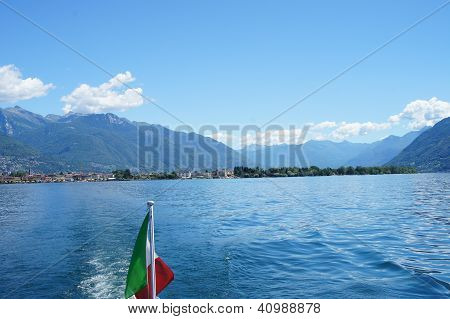 View to Ascona and the Swiss Mountains