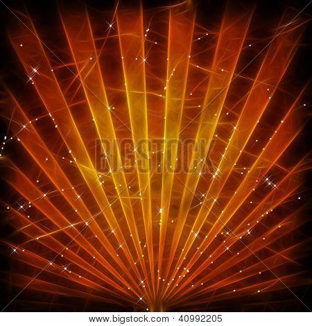 Brown grunge sunbeams background or texture