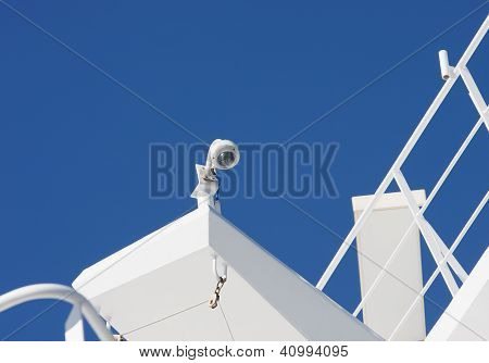 Security Camera On Ship Structure