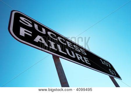 Success Failure Sign
