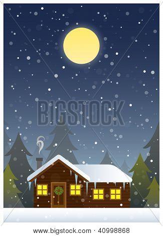 Cabin Christmas Card