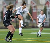 Girls High School Varsity Soccer Kick