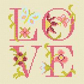 cross-stitching embroidery\