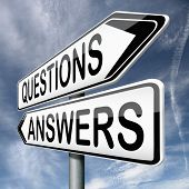 questions answers ask the right question and get an answer road sign indicating online help or suppo