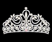stock photo of precious stones  - illustration tiara crown women - JPG