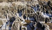 pic of sandblasting  - Coastal rock formation eroded by the sea - JPG