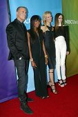 PASADENA, CA - JAN. 7: Nigel Barker, Naomi Campbell, Karolina Kurkova & Coco Rocha arrive at the NBC