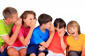 pic of kiddie  - Happy children whispering - JPG