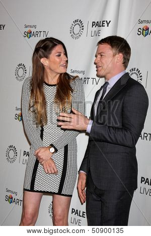 LOS ANGELES - SEP 12:  Jennifer Carpenter, Michael C. Hall at the PaleyFest Fall Previews:  Fall Farwell-