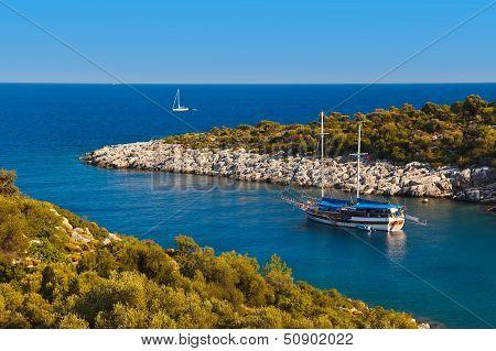 Ship In Harbor At Turkey