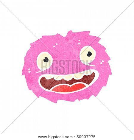 retro cartoon furry creature
