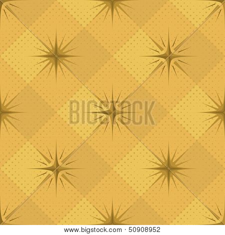 Seamless pattern, stars and checkered