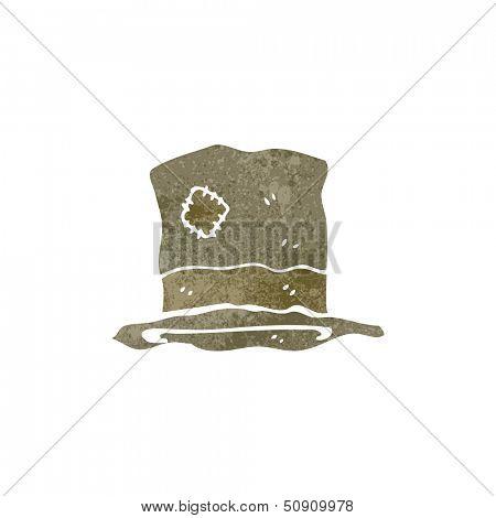retro cartoon battered old hat