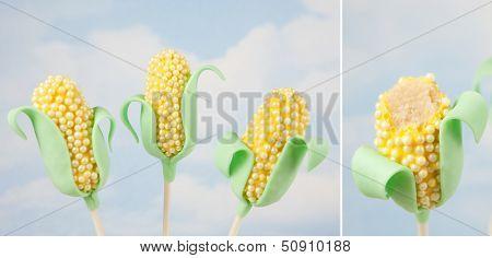Corn cake pops