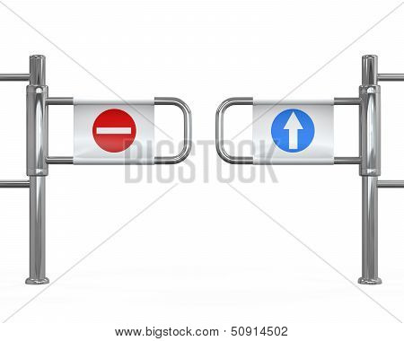 Turnstile Entrance Isolated