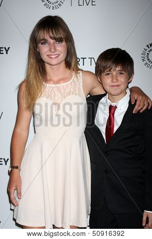 LOS ANGELES - SEP 12:  Christina Robinson, Preston Bailey at the PaleyFest Fall Previews:  Fall Farwell-