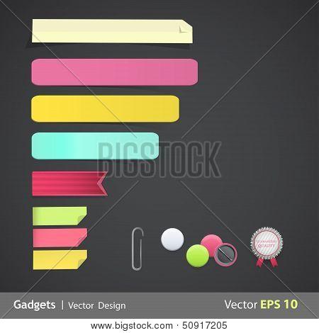Set Of Labels For Website. Vector Design